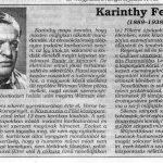 Karinthy – de melyik?