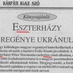 Esterházy neve a Kárpáti Igaz Szóban